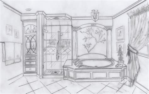 sketch of bathroom bathroom sketch my conceptual desgns pinterest