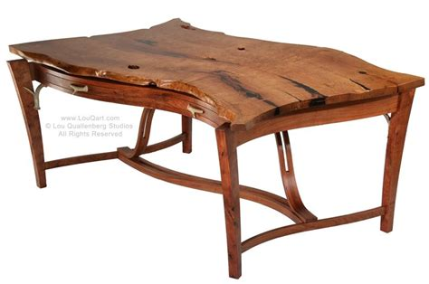 Mesquite Desk by Custom Live Edge Mesquite Partners Desk By Lou Quallenberg