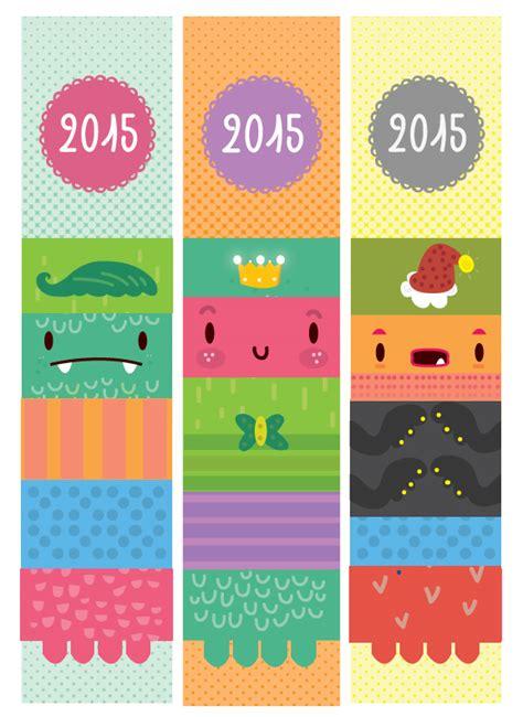 printable bookmark calendar 2015 2015 calendar bookmark design on behance