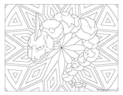 pokemon coloring pages for adults pokemon onix coloring pages images pokemon images