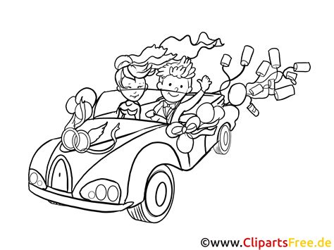 Just Married Auto Clipart Kostenlos by Just Married Clip Art Black And White Free