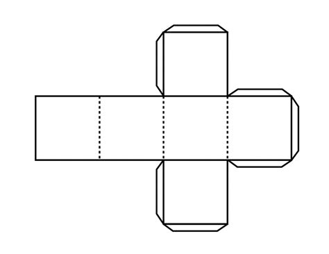 hexahedron template pattern for hexahedron clipart etc