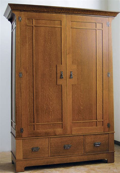 craftsman style armoire finewoodworking