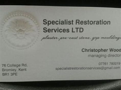 specialist restoration services  bromley  review decorative plasterer freeindex