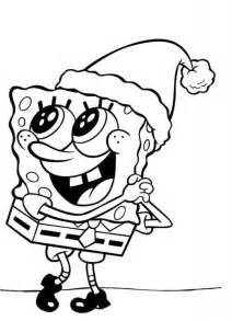 free coloring pages christmas spongebob