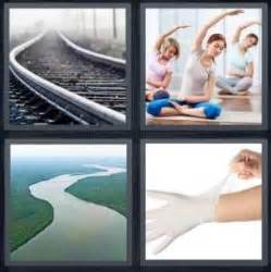4 Letter Words Made From Glove 4 pics 1 word answer for track river glove heavy