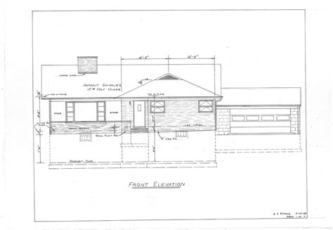 House Plans Elevation by Front Elevation Of Home Plans