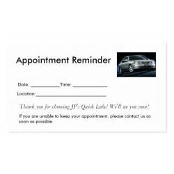 appointment reminders double sided standard business cards