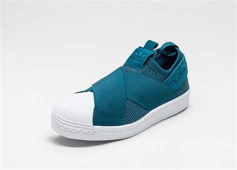 Adidas Superstars Slip On adidas superstar slip on w mineral blue mineral blue ftwr white asphaltgold