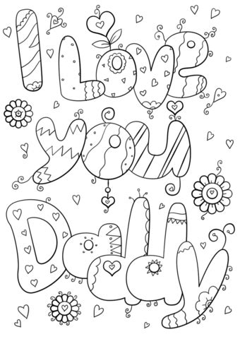 coloring pages i love you daddy i love you daddy coloring page free printable coloring pages