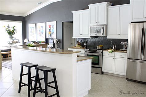 gray paint for kitchen walls how to make over a kitchen with paint popsugar home