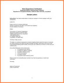 Letter Format To Verify Employment Sle Employment Verification Letter Best Business Template