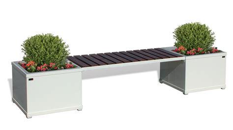 fioriere in legno economiche panca con fioriere in metallo e seduta con listoni in