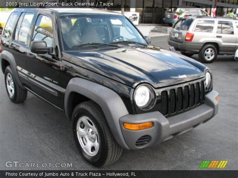 black jeep liberty 2003 black clearcoat 2003 jeep liberty sport taupe interior