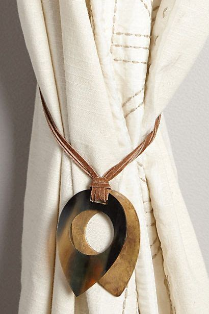anthropologie curtain tie backs love this tieback leather latched horn tieback