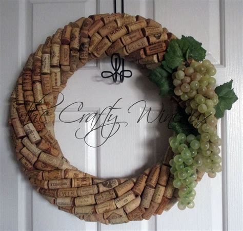 large 19 quot wine cork wreath with grapes choose your grape color the crafty wineaux