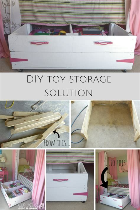 diy solutions diy wood pallet under bed toy storage our house now a home