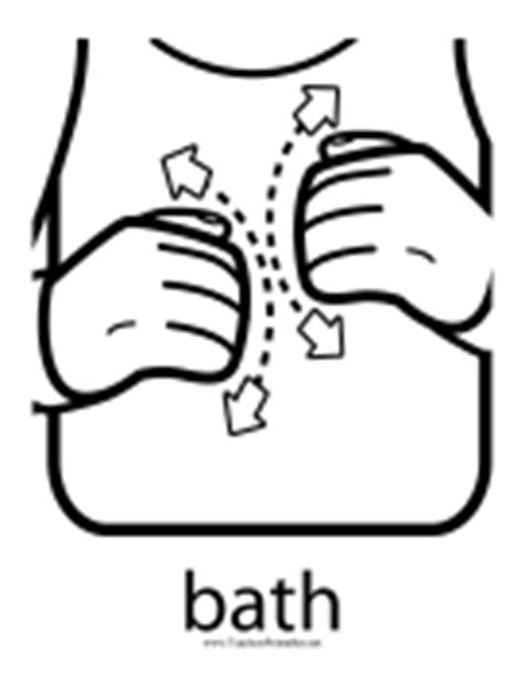 Bathroom In Sign Language by Sign Language Printables
