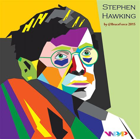 stephen hawking in the style of wpap by bruce on