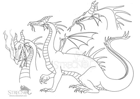 maleficent dragon coloring page maleficent studies by strecno on deviantart