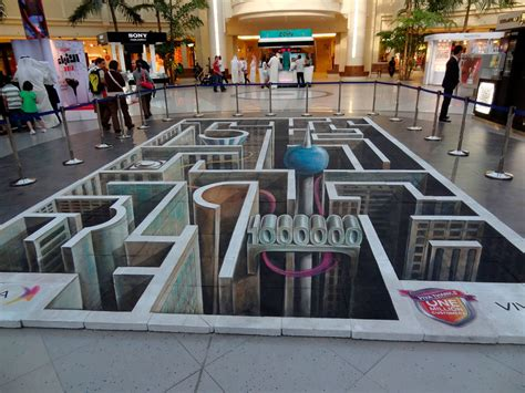 chalkboard paint kuwait 3d painting in marina mall kuwait design by