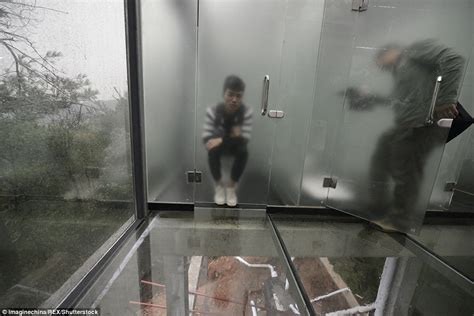 chinese public bathrooms chinese ecological park opens public toilets made of glass