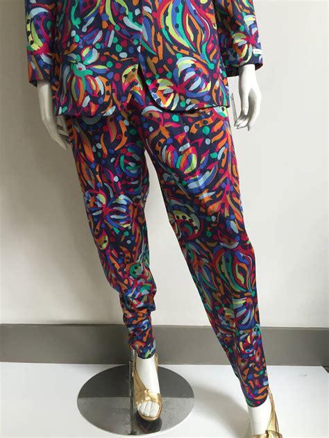 Sweater Eiger Sparkle 1989 Original missoni donna 80s cotton pant suit size 6 8 at 1stdibs