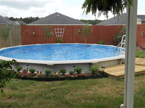 Landscape Ideas For Above Ground Pool Above Ground Pool Landscape Designs Abg Pool Landscaping