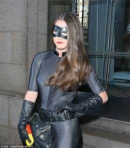 catwoman black actress brooke vincent sizzles as catwoman at fancy dress ball