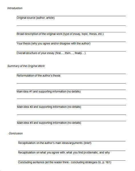 outline for essay template 37 outstanding essay outline
