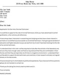 Animal Technician Cover Letter Example   icover.org.uk