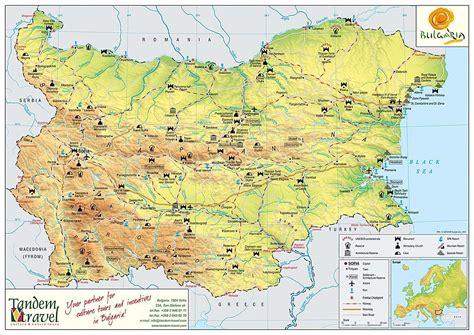 map of bulgaria map of bulgaria tandem travel
