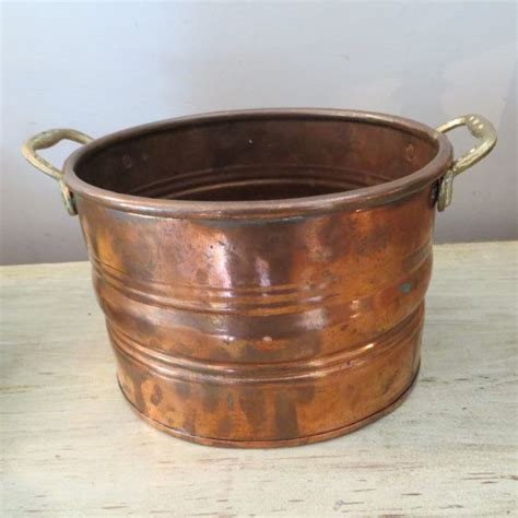 Copper Flower Planter by Vintage Turkish Copper Pot Copper Flower Pot Flower Pot Copper