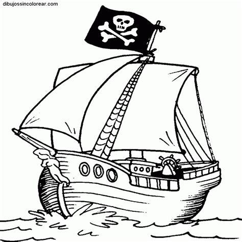 Para Colorear Barco Para Pintar Barco Pirata Para Colorear