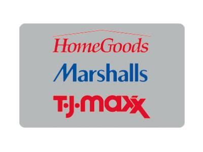 home goods marshalls and gift cards on