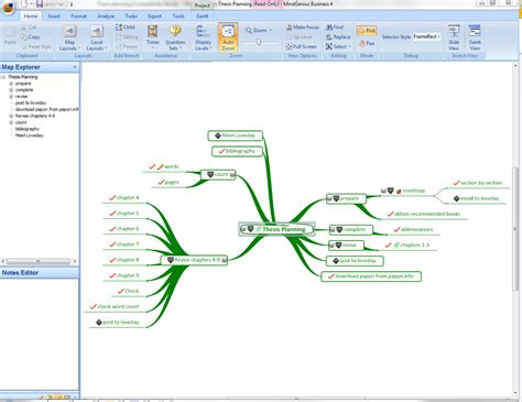 planning dissertation mindgenius mindgenius mind mapping software