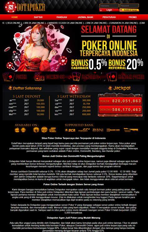 dotapoker web agen taruhan poker domino  resmi asia daftarkiu