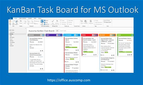 For All Ms Outlook Users Who Are Frustrated Office365 Templates For Onenote By Auscomp Com Onenote Kanban Board Template
