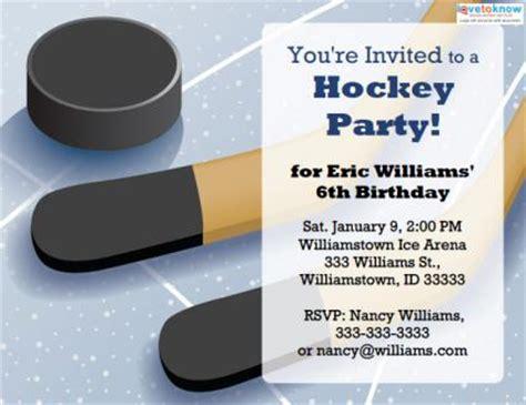 free printable birthday invitations hockey theme printable hockey party invitations lovetoknow