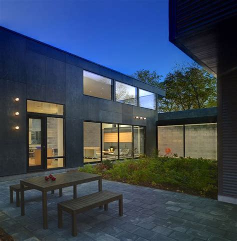 bay view homes natural modern house  private courtyard