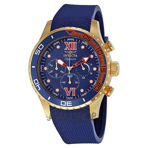 mens gold watches invicta watches gold and blue