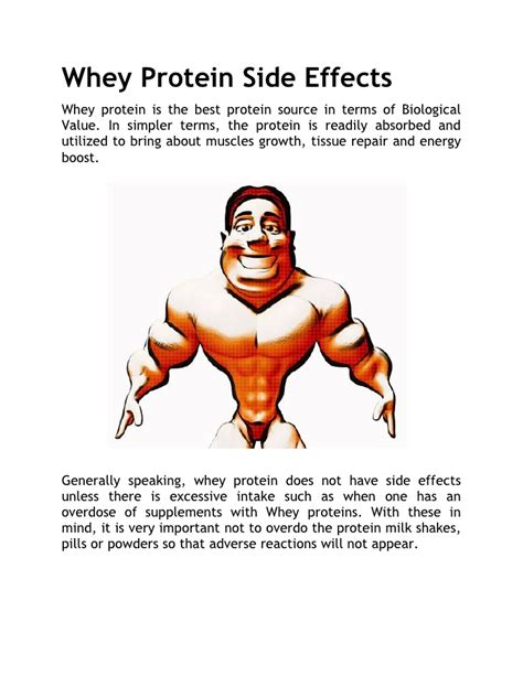 b supplements side effects whey protein side effects