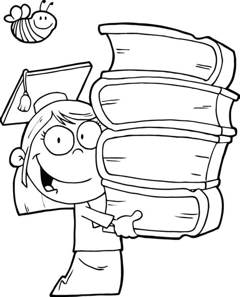 a boy s color by number book books coloring pages of graduation holding books coloring