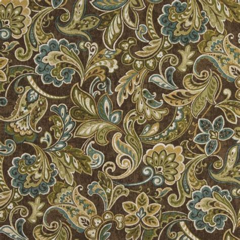 shop houzz palazzo fabrics green blue and brown floral