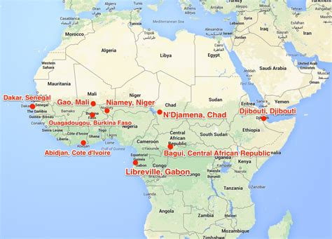 us air force bases in africa map france s military is all over africa business insider