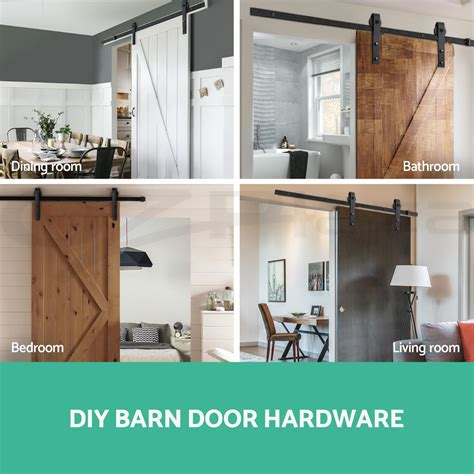 Ebay Barn Door Hardware 2m Sliding Barn Door Hardware Track Set Home Office Bedroom Interior Closet Ebay