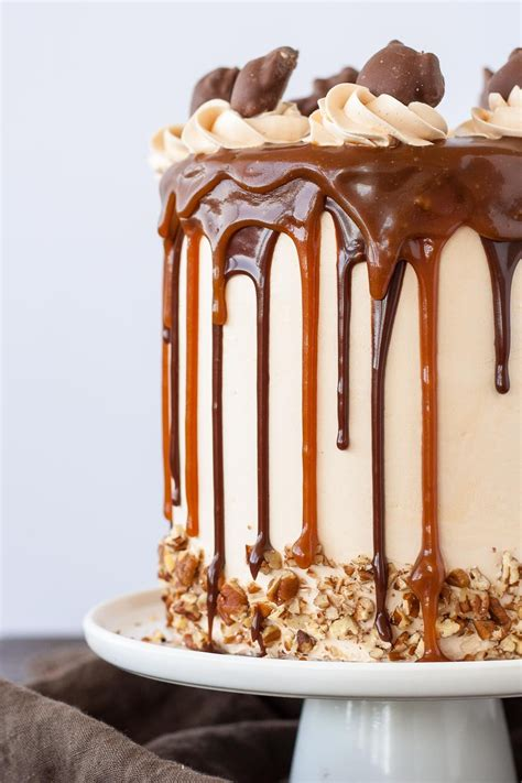 chocolate turtle layer cake livforcakecom cake recipes cake cake recipes salted caramel