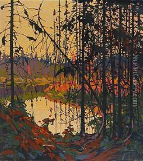 Livingroom Johnston northern river oil painting reproduction by tom thomson