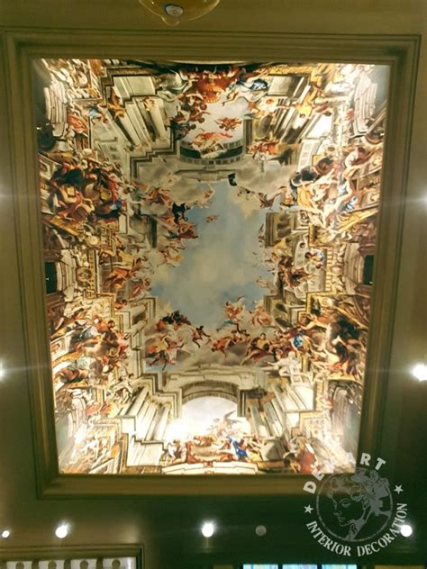 decorazione soffitto affreschi trompe l oeil per decorare pareti e soffitto