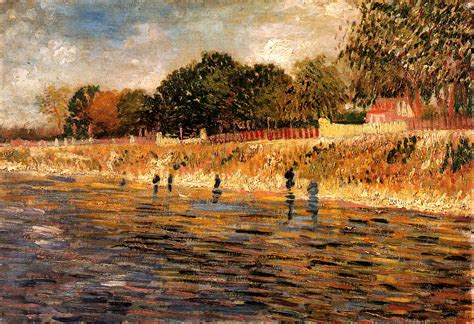 on the banks of the seine the banks of the seine 1887 vincent gogh wikiart org